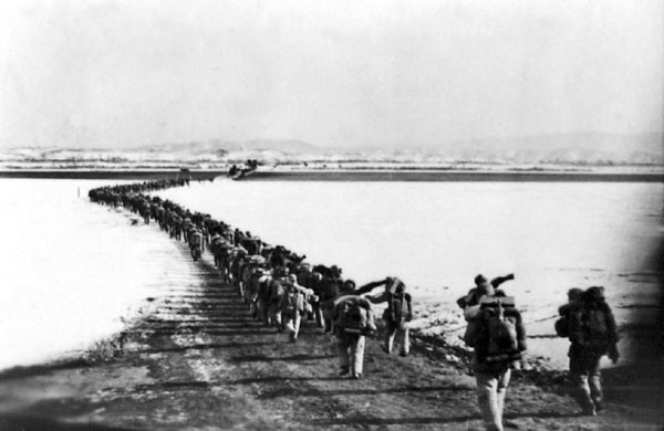 Chinese troops cross the Yalu as the Korean War enters a new phase | Image: Wikipedia