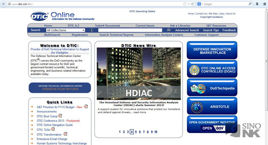 DTIC Home Page - dtic.mil | Image: DTIC