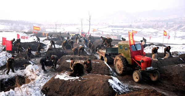 Heroic feats towards revolutionizing the land | Image: Rodong Sinmun