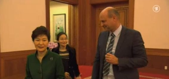 Philipp Abresch and President Park at the beginning of the interview.   Image: