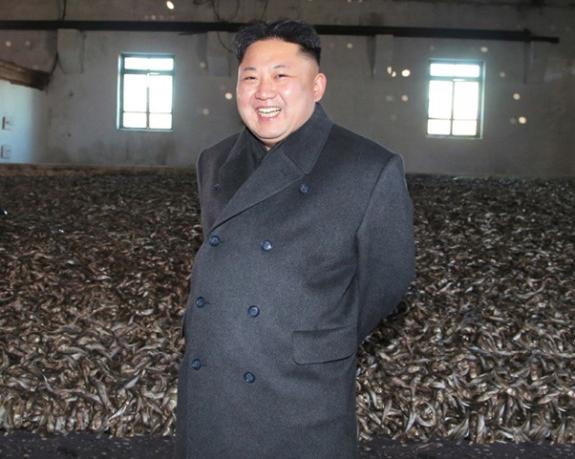 Kim Jong-un assesses the maritime bounty | Image: Rodong Sinmun