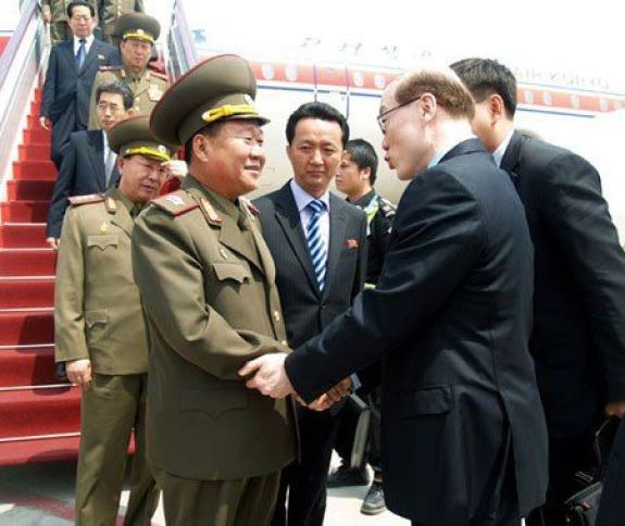 Choe Ryong-hae back in his military daysi   Image: Rodong Sinmun
