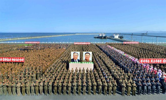North Korean fishery station goes into operation on January 8, 2014 | Image via The Daily NK