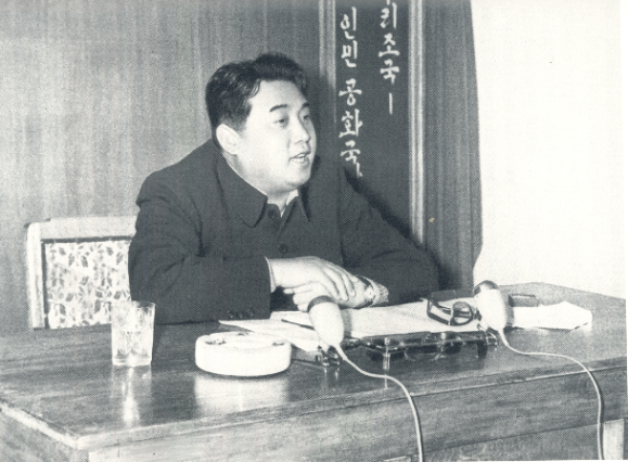 Kim Il-sung in a characteristically didactic moment. | Image:Queen's University, Belfast