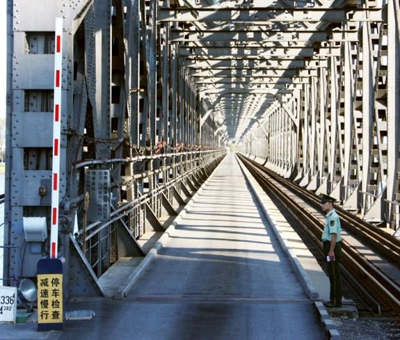 The Sino-DPRK Friendship Bridge in Dandong, Liaoning, PRC | Image: Mark Scott Johnson