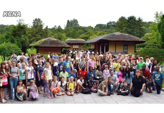 International Campers at Mangyongdae   Image: KCNA