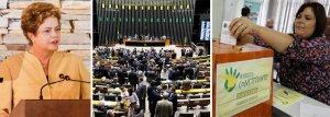Dilma promete se empenhar pela reforma politica