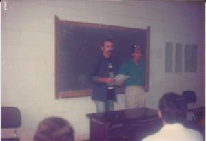 André Otto e Jair Queiroz na Academia de Polícia no ano de 1988
