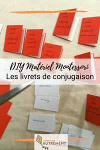 DIY livrets de conjugaison