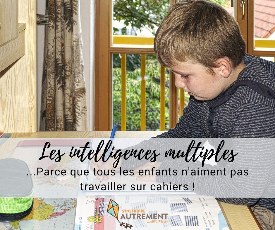 intelligences multiples : tous les enfants n'aiment pas travailler sur cahiers.
