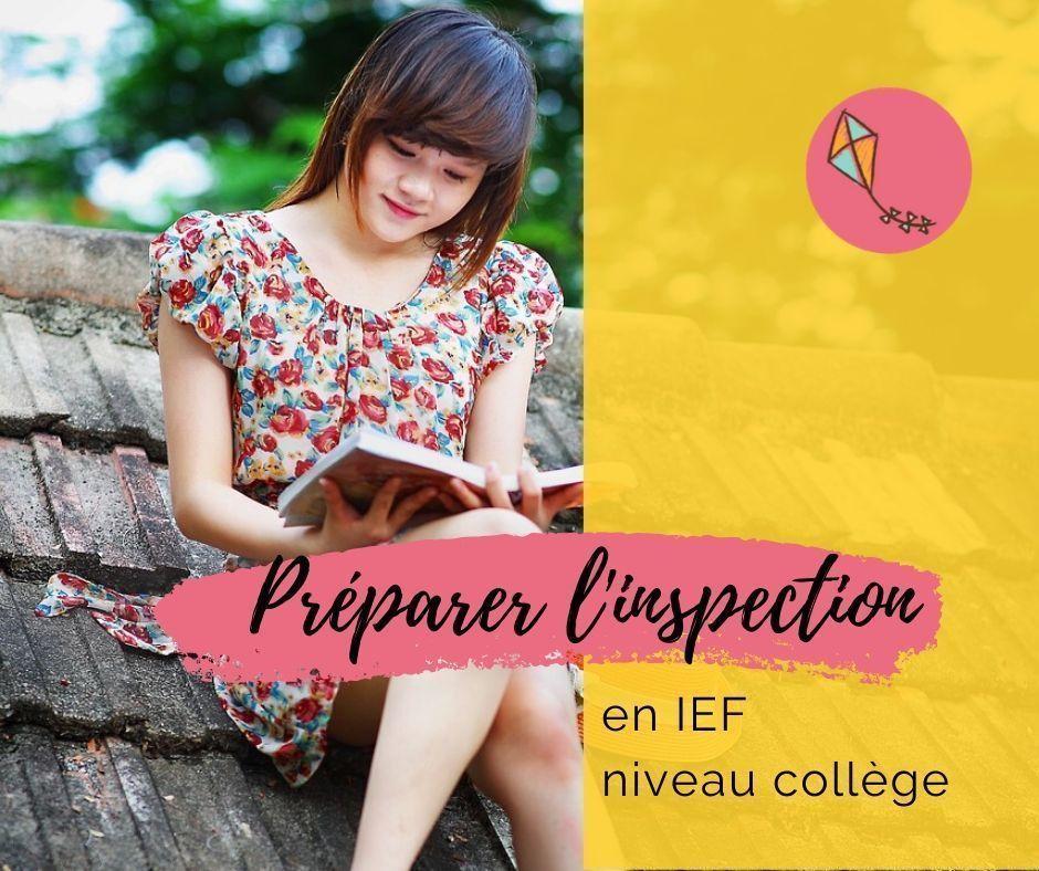 IEF niveau collège : comment bien préparer l'inspection ?