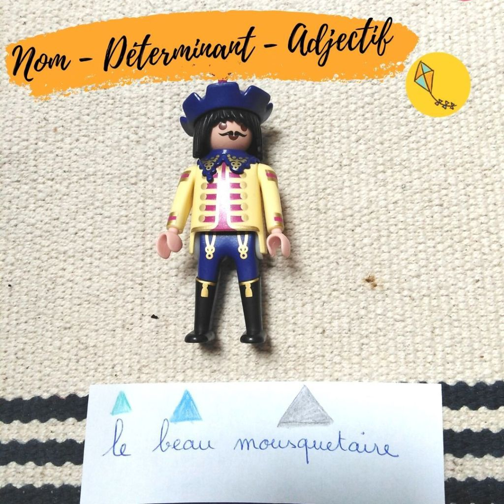 Nom, déterminant, adjectif : les premières natures de mots en grammaire Montessori.