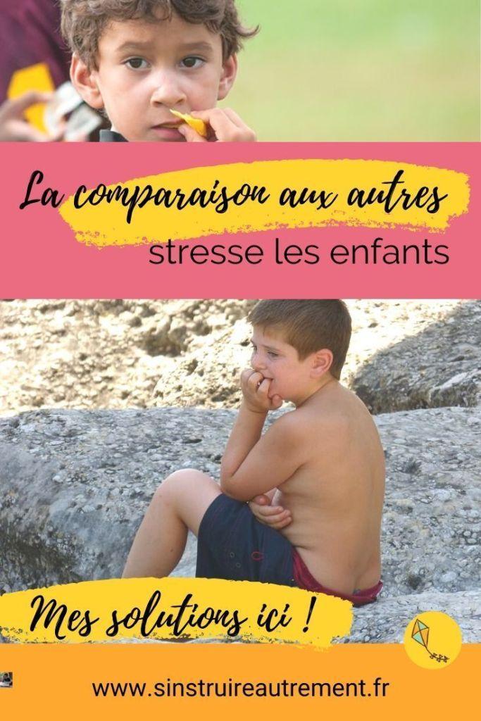La comparaison aux autres, grande source de stresse des enfants. Mes solutions naturelles contre le stress dans cet article.