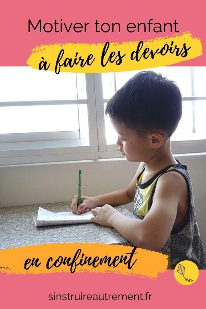 Comment motiver ton enfant à faire les devoirs pendant le confinement ? Mes conseils pour cette période un peu particulière