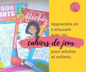 Read more about the article Apprendre avec des cahiers de jeux