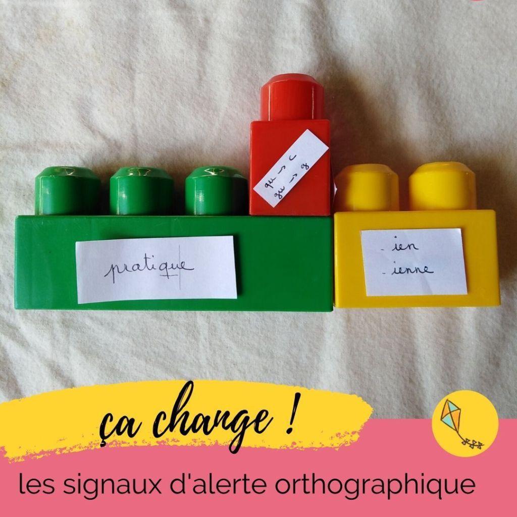 Apprendre l'orthographe peut se faire à partir de Lego ! Manipulations pour les enfants de primaire et du collège.