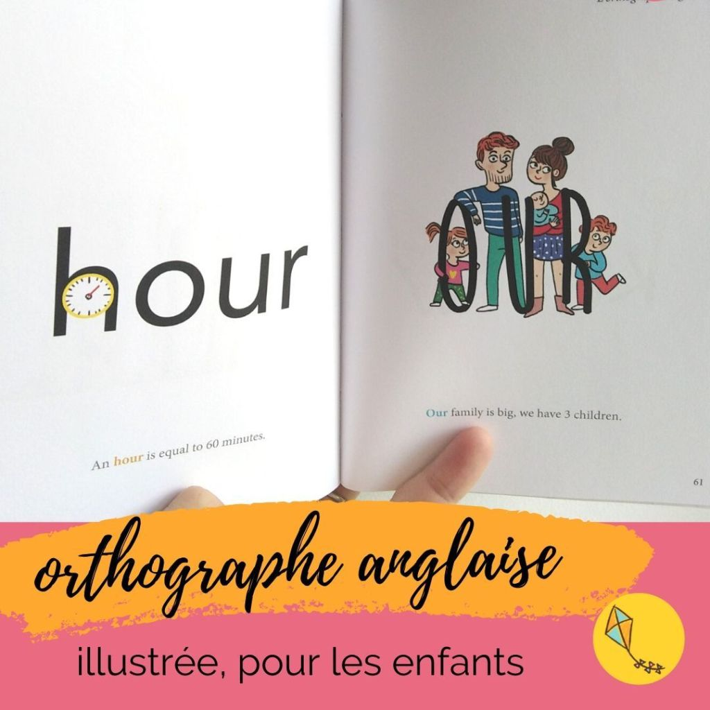 othographe anglaise illustrée, un des super livres pur apprendre l'anglais écrit aux enfants