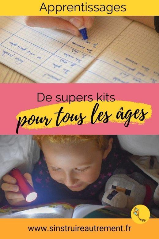 Apprendre avec des kits de la maternelle au collège