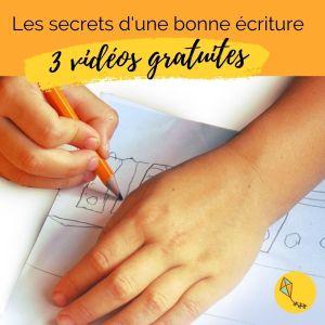 3 vidéos gratuites secrets d'une bonne écriture