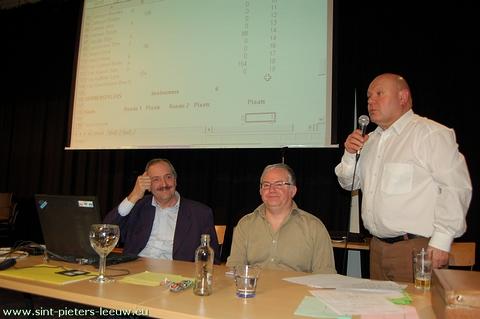 De organisatoren: Gust Crabbe, Jan Quinart en Denis Deneulin