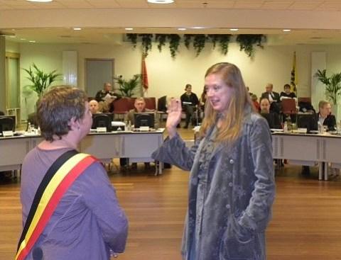 eedaflegging gemeenteraadslid Sylvia Cliquet