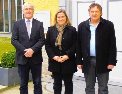 Voorzitter Paul Defranc, coördinator Ineke Brems en secretaris Eric Dehandschutter