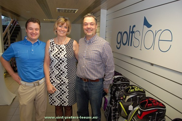 Golf Store Brussels: Andy Poot, Ann De Clercq en echtgenote Stef De Corte