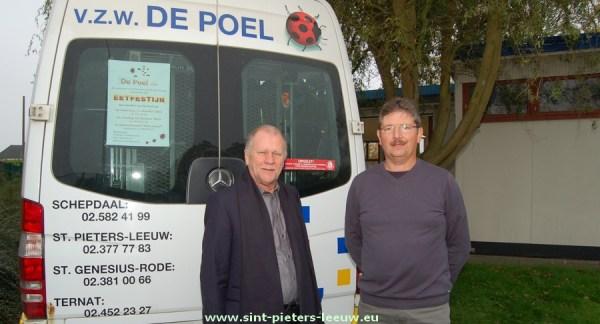 Bert Hendrickx, directeur De Poel  vzw en Stef Van Cauter coördinator