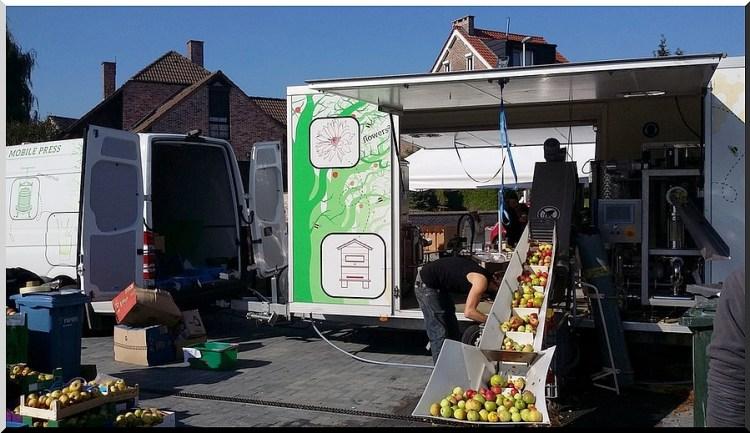 mobiele fruitpers