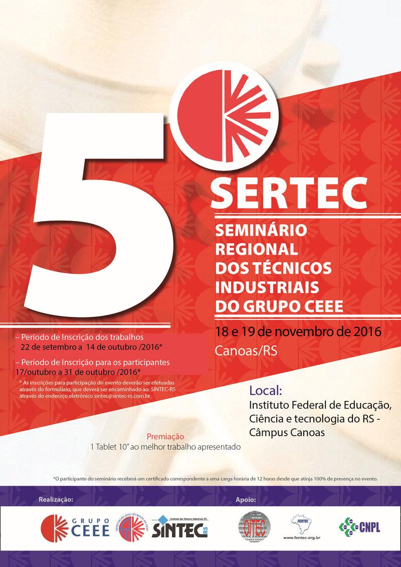 5º SERTEC – Seminário Dos Técnicos Industriais Do Grupo CEEE