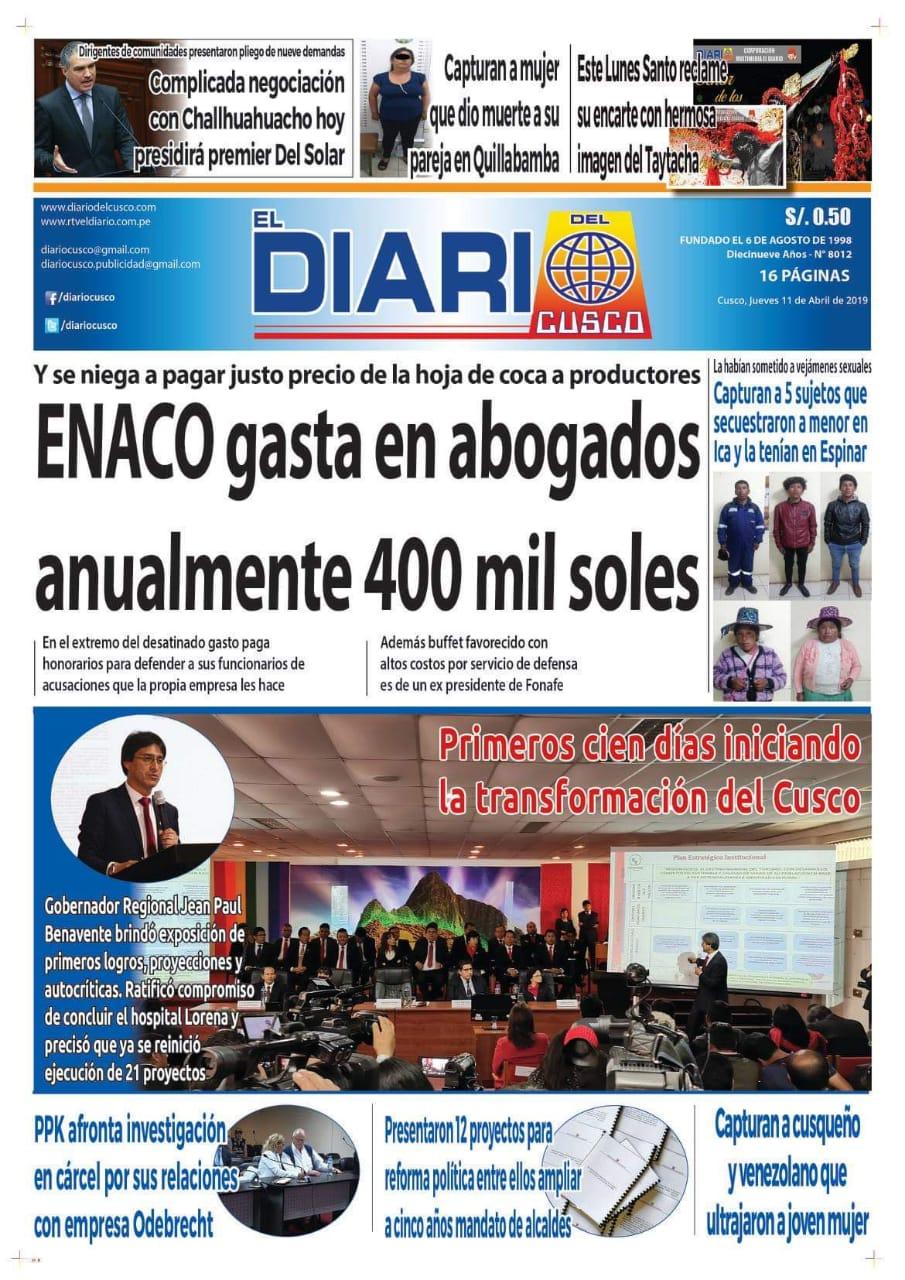 Prensa denuncia que ENACO gasta en abogados 400 mil soles anuales