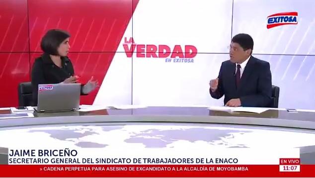 Entrevista a Jaime Briceño Secretario General del SINTEC en Exitosa