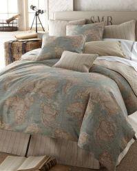 Calming map bedding from neimanmarcus.com