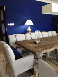 A beach house dining room by Sarah Maidment Interiors