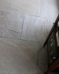 Hardwearing white granite flooring
