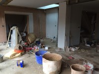 Plastering in the day room