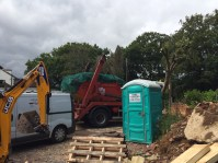 The skip finally being collected