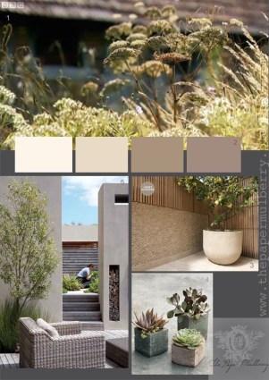 Simplistic hot weather garden