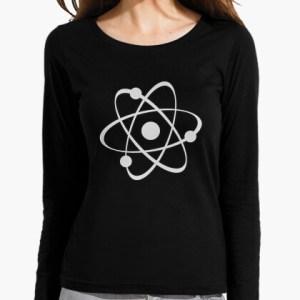 Camiseta Atom negra mujer manga larga