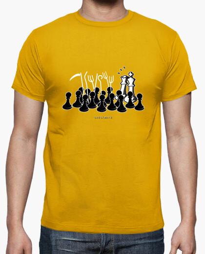 Camiseta Jaque Mate color mostaza