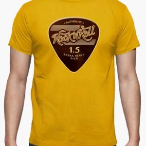 Camiseta Rock & Roll Pick color mostaza