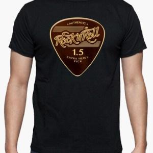Camiseta Rock & Roll Pick color negro