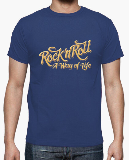 Camiseta Rock n Roll WOL color azul