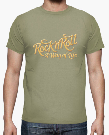 Camiseta Rock n Roll WOL color caqui