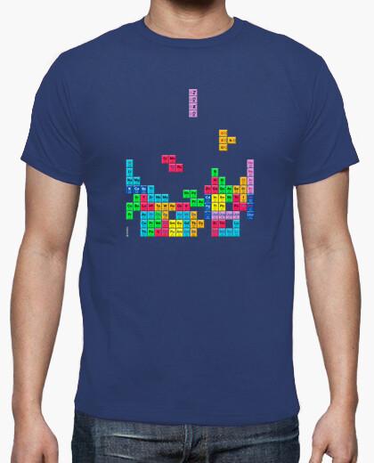Camiseta Tabla periódica Tetris color azul