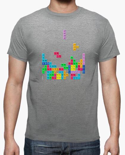 Camiseta Tabla periódica Tetris color gris