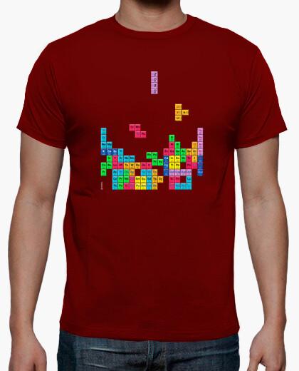 Camiseta Tabla periódica Tetris color rojo