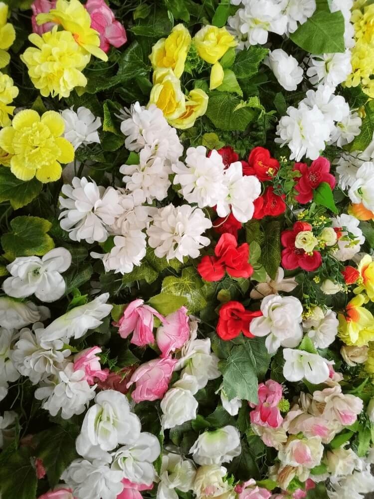 Good morning images of artificial colorfull flower