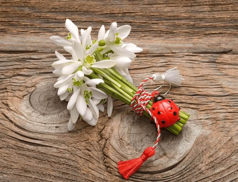 Good morning images with Bouquet of the first spring flower