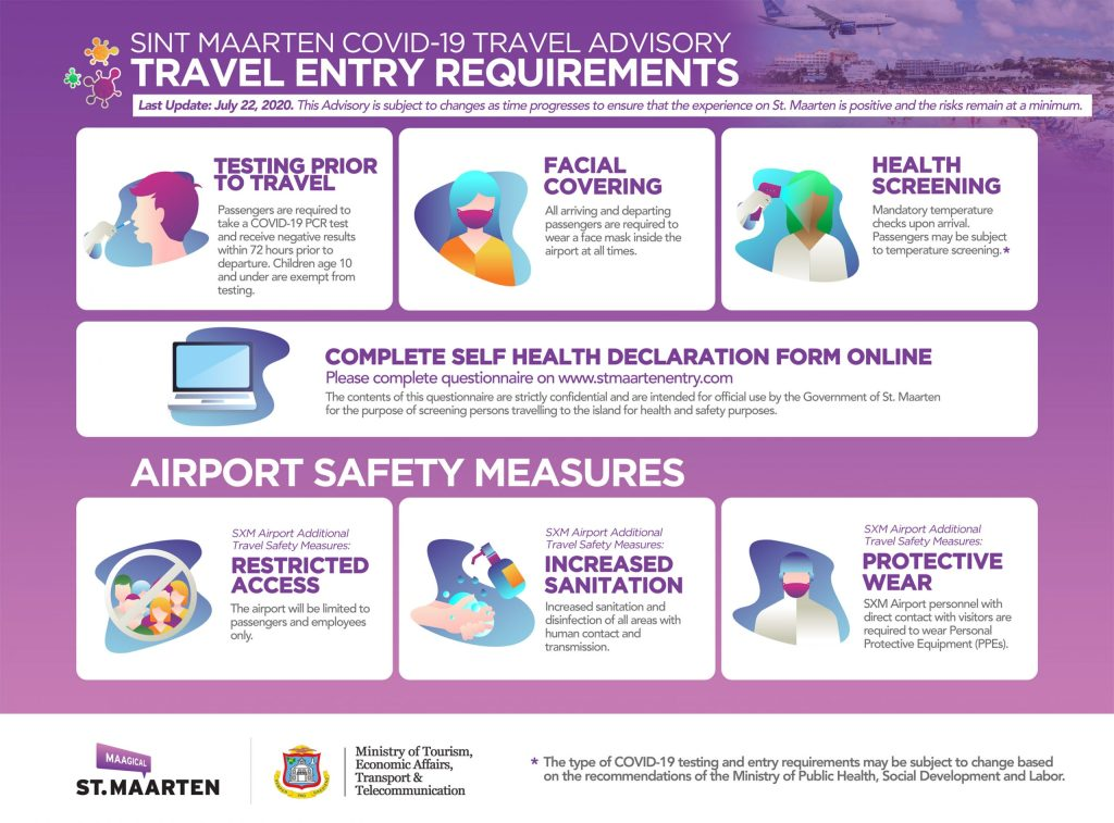 St Maarten COVID-19 Airport Entry Requirements